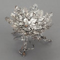 Silver Holloware, American, A STEPHEN DWECK SILVER AND MIXED METAL FOOTED DISH. circa 1989.Marks: STEPHEN DWECK, STERLING, (fish), ©, 1989,0...