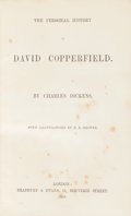Books:Literature Pre-1900, Charles Dickens. The Personal History of David Copperfield.London: Bradbury & Evans, 1850. First edition in book fo...