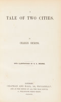 Books:Literature Pre-1900, Charles Dickens. A Tale of Two Cities. With Illustrations by H. K.Browne. London: Chapman and Hall, 1859. First edition, fi...