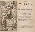 Books:Literature Pre-1900, William Shakespeare. The Works of Mr. William Shakespear in SixVolumes. Revis'd and Corrected, with an Account of...(Total: 6 Items)