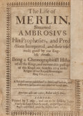 Books:Literature Pre-1900, [Arthurian Legend]. [Thomas Heywood]. The Life of Merlin,Sirnamed Ambrosius. His Prophesies, and PredictionsInte...