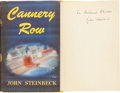 Books:Literature 1900-up, John Steinbeck. Cannery Row. New York: Viking Press, 1945.First edition, second state binding. Inscribed by the a...