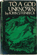 Books:Literature 1900-up, John Steinbeck. To a God Unknown. New York: Robert O.Ballou, [1933]. First edition. Octavo. 325 pages. Publishe...