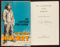 Books:Biography & Memoir, Sir Edmund Hillary. No Latitude for Error. Hodder &Stoughton, 1961. First edition. Signed by Hillary. Fro...