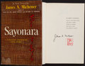 Books:Literature 1900-up, James A. Michener. Sayonara. Random House, 1954. Firstedition. Signed by the author and with his personal stamp...