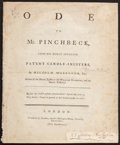 Books:Literature Pre-1900, Malcolm McGreggor [pseudonym of William Mason]. Ode to Mr.Pinchbeck... London: Printed for J. Almon, 1776. First ed...