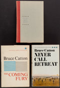 Books:Americana & American History, Bruce Catton. The Centennial History of the Civil War.Doubleday, 1961, 1963, 1965. First editions. Signed and... (Total:3 Items)
