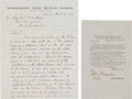 Autographs:Military Figures, [Reconstruction Era]. General George Meade Autograph Letter Signed... (Total: 2 Items)
