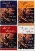 Books:Biography & Memoir, Maya Angelou. Boxed Set Including Four Inscribed Titles, including: I Know Why the Caged Bird Sings [and:] Three o... (Total: 4 Items)