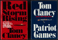 Books:Literature 1900-up, Tom Clancy. Two First Editions: Patriot Games and RedStorm Rising. Putnam, [1982, 1986]. First edit... (Total: 2Items)
