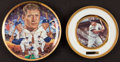 Baseball Collectibles:Others, Mickey Mantle Signed and Unsigned Plates Lot of 2....