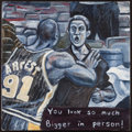 Basketball Collectibles:Others, Ron Artest (Brawl) Original Oil Painting....