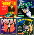 Memorabilia:Movie-Related, Super 8 Monster Movie Group (Castle Films, 1960s-70s).... (Total: 9Items)