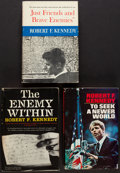 Books:Americana & American History, Robert F. Kennedy. Group of Three First Editions. 1960 to 1967.From a private collection in North Carolina.... (Total: 3Items)