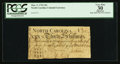 Colonial Notes:North Carolina, Low Serial Number 128 North Carolina March 9, 1754 30s PCGSApparent Very Fine 30.. ...
