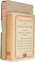 Books:Literature 1900-up, Willa Cather. Pair of First Editions, One Trade Edition, OneSigned/Limited. From a private collection in North Carolina....(Total: 2 Items)