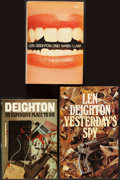 Books:Mystery & Detective Fiction, Len Deighton. Group of Three First Edition Books. From a private collection in North Carolina.... (Total: 3 Items)