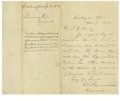 "Autographs:Military Figures, General William Tecumseh Sherman Autograph Letter Signed, ""W.T.Sherman General,"" one page, 10.25"" x 8"", Washington, Apr..."