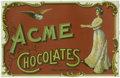 Advertising:Paper Items, Acme Chocolates Advertising Sign Proof. Here we have a bright andbeautiful advertisement from the Acme Chocolates company. ...
