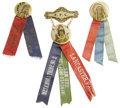 Political:Ribbons & Badges, Three Order of Red Men Badges. This lot consists of three badges which commemorate and acknowledge functions held by the Im... (Total: 3 )