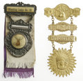 Political:Ribbons & Badges, Pair of BPO Elks Badges from Wheeling and Wichita. Another pair of fine badges from the Benevolent & Protective Order of Elk... (Total: 2 )