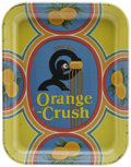 Advertising:Soda Items, Orange Crush Serving Tray featuring Crushy Man. This tray featuresthe comical Crushy Man, as he is known, crushing an orang...