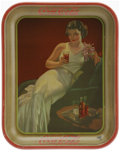 Advertising:Soda Items, 1936 Coca-Cola Serving Tray. This tray features a model wearing alovely white evening dress, provocatively leaning on a sof...