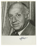 "Autographs:Statesmen, U.S. Senator from New York Jacob Javits Signed Photograph. Signed""J. Javits,"" 8"" x 10"", black and white, np, nd. Javits..."