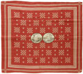 Political:Textile Display (pre-1896), 1888 Cleveland and Thurman Jugate Campaign Bandana. A beautifultextile campaign collectible from the unsuccessful 1888 Demo...