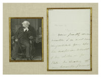 Martin Van Buren Autograph Letter Signed. Written Soon Before His Nomination for President, 1836. A good content autogra...