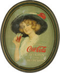 Advertising:Soda Items, 1913 Hamilton King Coca-Cola Tray. One of the earlier traysproduced for Coke by Passaic Metal Ware Co., it features the art...