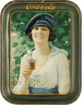 Advertising:Soda Items, Autumn Girl Coca-Cola Tray. This '20s model was used to promote Coca-Cola at the fountain and was also featured on the 1922 ...