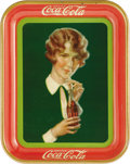 Advertising:Soda Items, Bob-Haired Girl 1928 Coca-Cola Tray. Offered here is this boldlydesigned '20s tray picturing what most Coca-Cola collector...