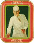 """Advertising:Soda Items, Coca-Cola's 1927 Soda Jerk Tray. Although the term """"soda jerk"""" was not used until later, this 1927 promotional tray, distrib..."""