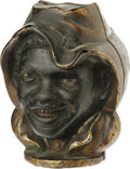 Antiques:Toys, Two Faced Black Boy Figural Still Bank made by the A. C. Williams Company of Ravenna, Ohio. This cast figure of a black boy ...