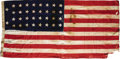 Military & Patriotic:Civil War, United States 34 Star Civil War Era Flag. Thirty-four star flags are rare and desirable as they were only official for two y...