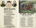 Military & Patriotic:Civil War, Charles Magnus Jefferson Davis Songsheets. Confederate President Jefferson Davis was a convenient target for Northern derisi... (Total: 2 items)