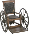 Military & Patriotic:Civil War, Vice President of the Confederacy Alexander Stephens' Personal Wheelchair. This 96 pound, shrill voiced man was once dubbed ...