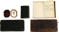 Important Civil War Grouping With Combat Diaries Collection of six items pertaining to the Civil War service of Private...