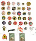 Advertising:Pocket Mirrors & Pinbacks, Advertising Group of 30+ Pinback Buttons is an excellentopportunity for any collector, budding or advanced. Making up them...