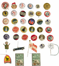Advertising Group of 30+ Pinback Buttons is an excellent opportunity for any collector, budding or advanced. Making up t...