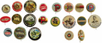 Gun Powder and Arms Manufacturers' Advertising Buttons: A Fine Collection of 21 Different. This lot contains pinbacks th...