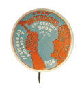 Entertainment Collectibles:Movie, Gorgeous Chicago's 1934 Century of Progress Exposition Buck Rogers Button. This exciting litho pinback in blue and orange to...