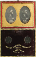 Photography:Daguerreotypes, Mascher's Improved Stereoscope Daguerreotype patent dated March 8th, 1853. This beautiful invention by J. F. Mascher, incorp...