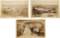 "Photography:Cabinet Photos, Set of Custer's Last Stand Cabinet Cards from the Boston Cyclorama,1889. Five slightly oversize, 8.5"" x 5.25"", cabinet imag... (Total:5 items)"