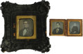Photography:Daguerreotypes, New England Mariner's Daguerreotypes and Books. Group of four items identified to mid-19th century Massachusetts sea captain... (Total: 4 items)