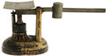 """Political:3D & Other Display (1896-present), 1876 Fairbanks Metal """"Centennial"""" Souvenir Scale. This unusual itemis a small scale made out of metal and painted to promot..."""