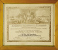 """General Historic Events:Expos, 1907 Jamestown Expo Certificate awarding a commemorative medal to""""G.B. Wall, Real Estate Agent, Collaborator with Exhibit o..."""