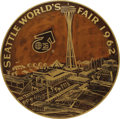 General Historic Events:World Fairs, 1962 Seattle World's Fair Sign. If a Kennedy-era American wanted apreview of the 21st century, the Seattle World's Fair was...