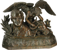 Enrico Caruso Memorial Bronze Sculpture. Thanks in large part to the Victor Talking Machine Company, Italian tenor Enric...
